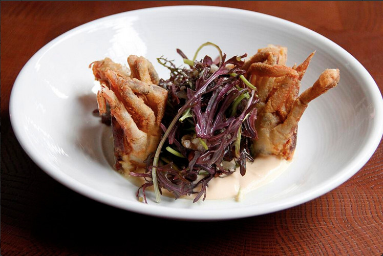 @TheMarrowNYC had soft-shell crab with greens and ramps this week. Food jealousy is a terrible, terrible thing.