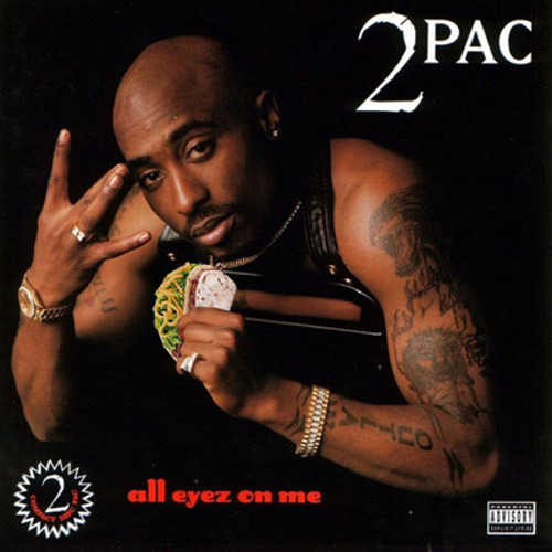 Of course all eyez are on you. You're throwing gang signs and holding a goddamn taco.