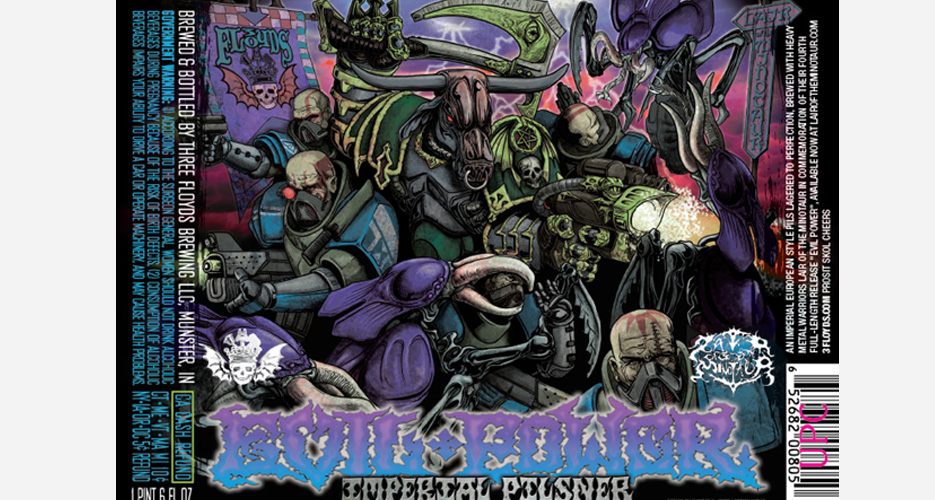 Three Floyds gathers together a cast of its evil characters for this pilsner.