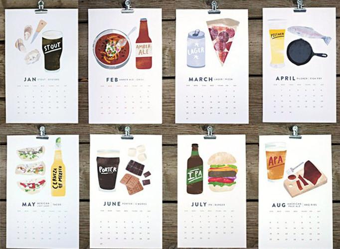 Beer/Food 2013 Calendar. $24.