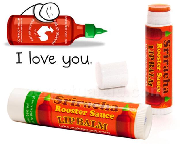 Sriracha Lip Balm. $3.99 at