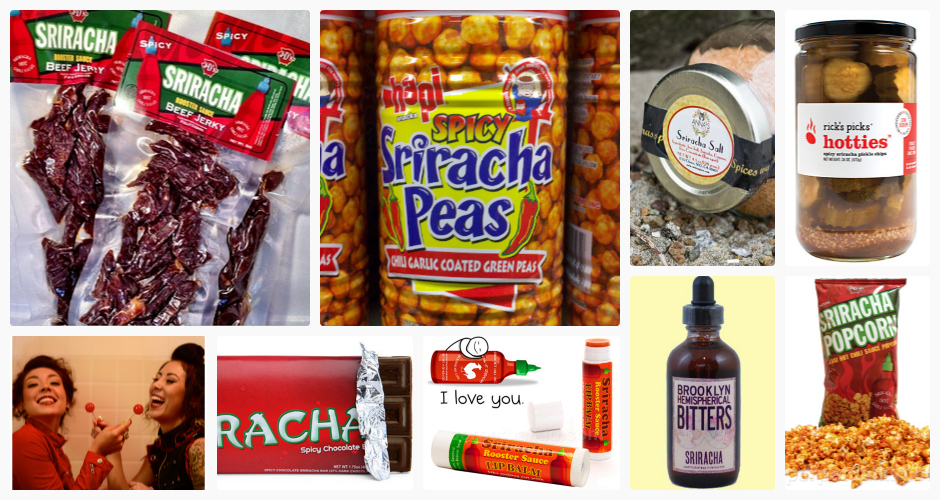Click through the slide show to see 15 sriracha-inspired products.