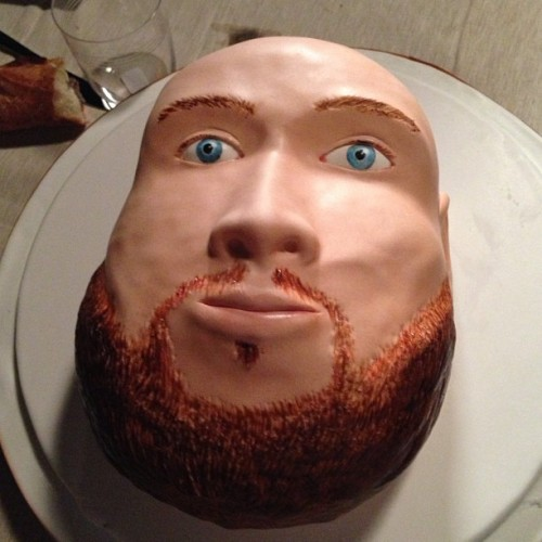 Let's go ahead and finish this round up strong with a cake in the shape of Action Bronson's face.