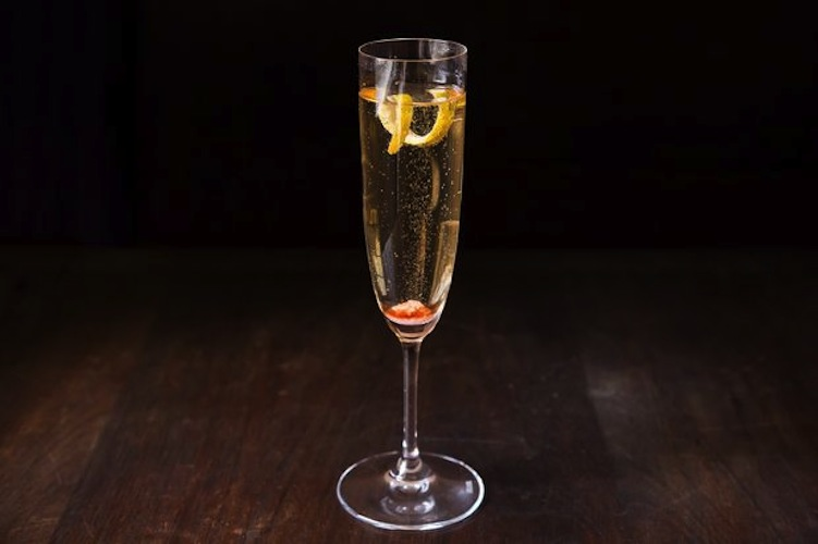 Champagne Cocktail. The hands-down easiest cocktail recipe for champagne lovers.