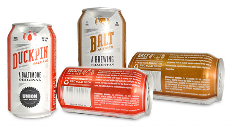 Baltimore's Union Craft Brewing gets into the can game with some conservative but solid-looking hardware.
