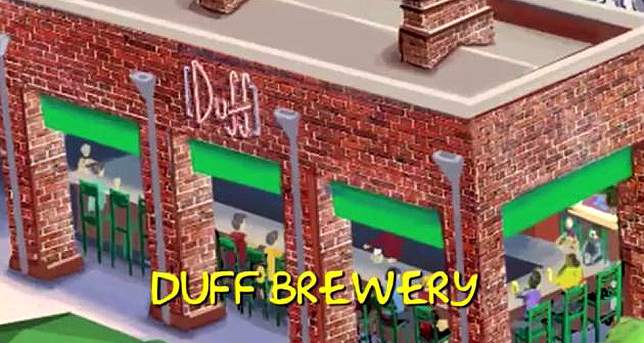 The Duff Brewery will exist! The brewery will be one of many food-related attractions at the new Simpsons theme park at Universal Orlando. (Photo: SF Weekly)