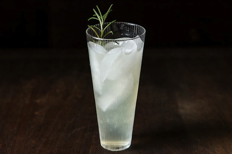 Rosemary Gin Cocktail. This cocktail smells as wonderful as it tastes. If you want to skip the step of grinding up your rosemary (and avoid the clean-up that follows), just steep the whole branches in your sugar water. We won't tell.