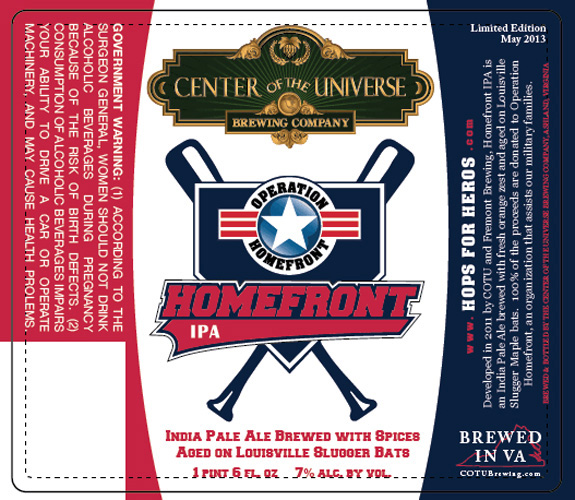 """The """"So Bad, It's Good"""" award goes to the ridiculously named Center of the Universe Brewing Co., for what looks like a mashup of a Nintendo baseball game cover and an ode to Top Gun."""