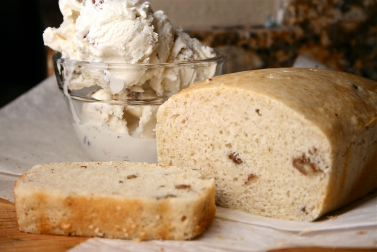 That right there would be butter pecan ice cream in bread form. Recipe and photo: The Hungry Housewife