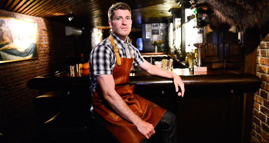 This gentleman makes a mean Old-Fashioned. Click through the gallery to see him put it down...