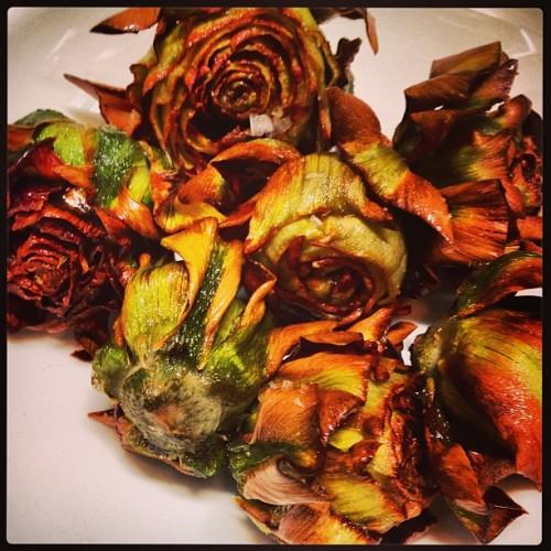 Can Roman-fried artichokes be canonized already? (Photo: @jennlouis)