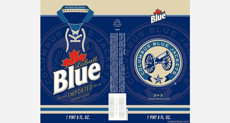 What's not amazing about a beer label that looks like a hockey jersey?