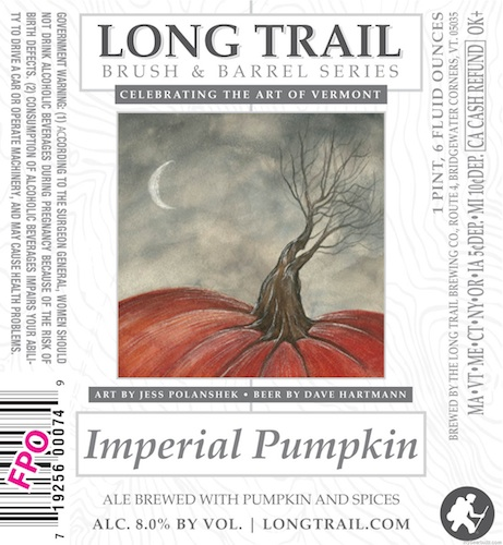 The bad news is, we're already hearing about fall seasonals and it's not even summer. The good news is, Long Trail got an artist to paint a sweet pumpkin for this label.