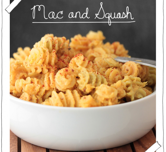 While mac 'n' cheese is hard to give up, I admit I have a problem and am willing to submit myself to a regimen of mac and squash.