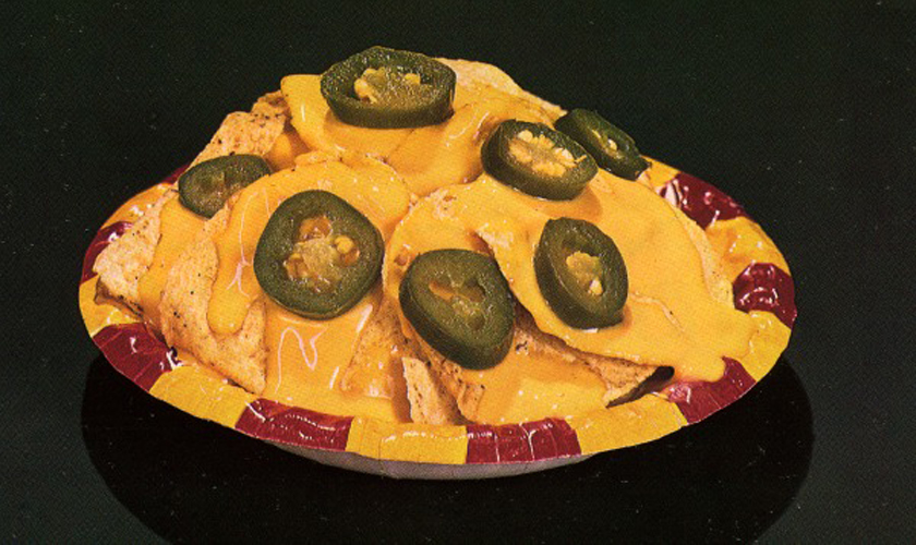 An early '80s Ricos advertisement for the nacho bowl. Image courtesy of Ricos Products Co., Inc.