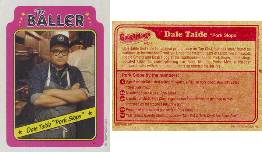 "Dale Talde (Pork Slope) in the ""Going H.A.M. Pack"""