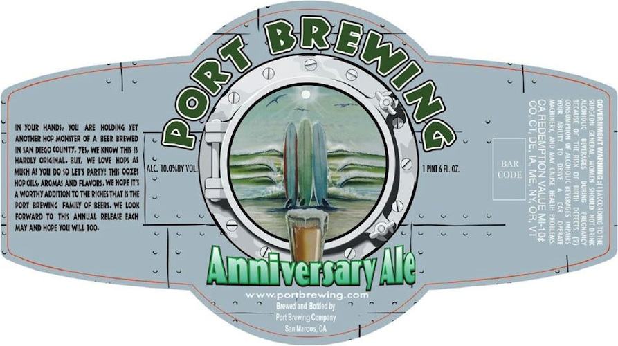Port Brewing's seventh anniversary has arrived—surf's up!