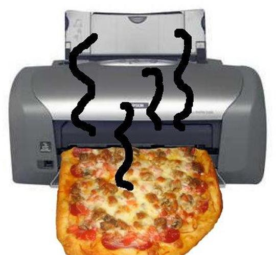 Mmm, pizza printer. (Photo: pouët.net)