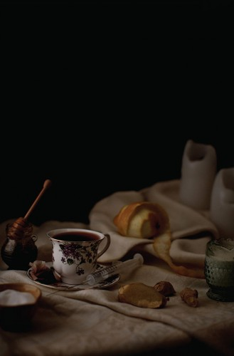 Prince: Coffee, tea, syringe for B-12 injection (photo Henry Hargreaves, via Vice)