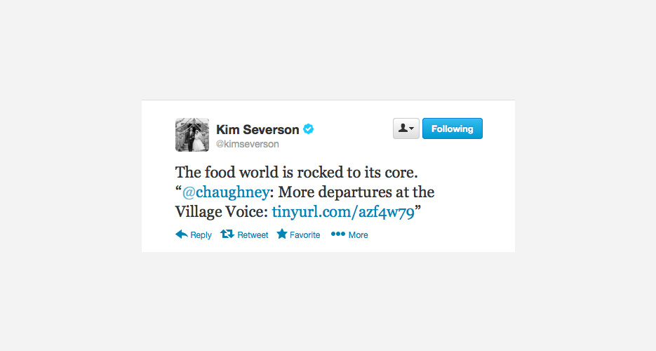 Kim Severson of the New York Times