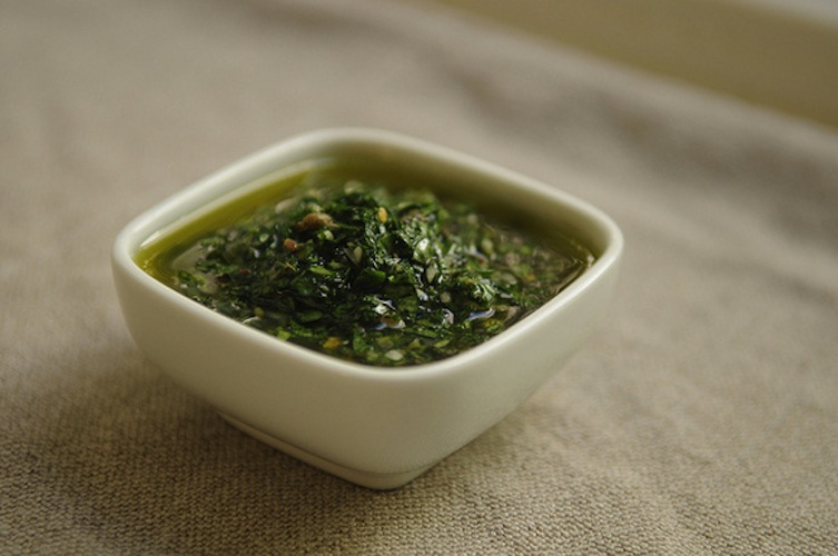 Salsa Verde. Salsa verde doesn't have the heft of pesto, thanks to the acidity of vinegar and lemon, but it has plenty of kick from anchovy, garlic and red pepper flakes.