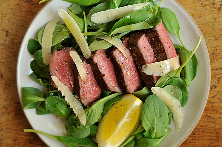 Steak with Arugula, Lemon and Parmesan. Although this fresh, spring-ready dish is already a cinch to make, it becomes a no-brainer when you have already cooked steak on hand. Just slice, dress, and serve.