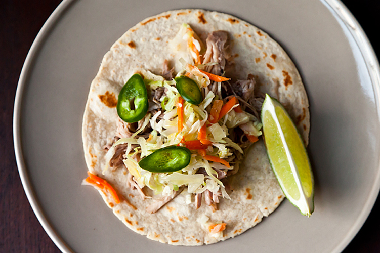 Citrus Pulled Pork Tacos. Channel the spirit of Tex-Mex (or Cal-Mex) cuisine by making these bright, zippy tacos. Or head east and toss the pulled pork with barbecue sauce and layer in a bun with the citrus slaw. Get the recipe.