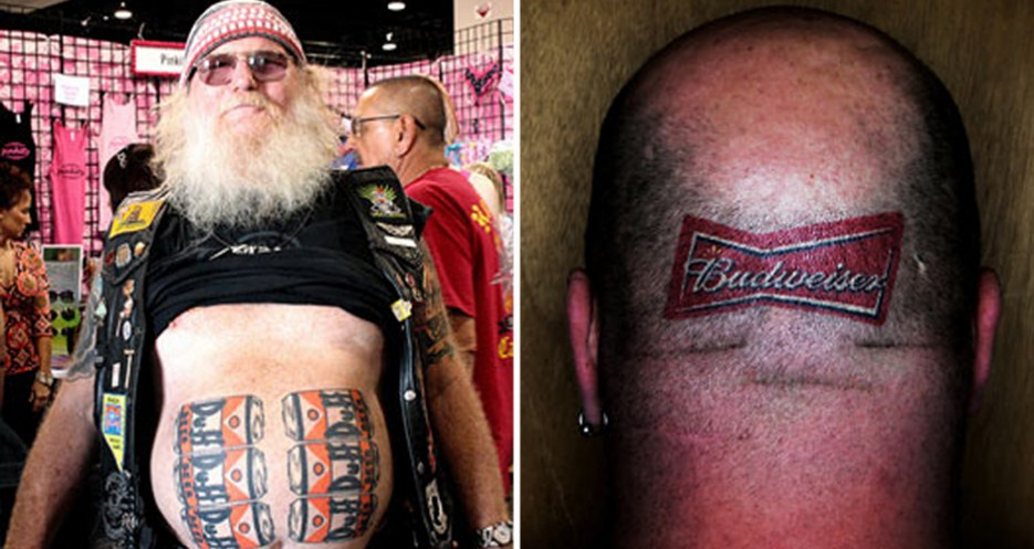 Celebrate the fact that you don't have a terrible beer tattoo. Or maybe consider getting one.