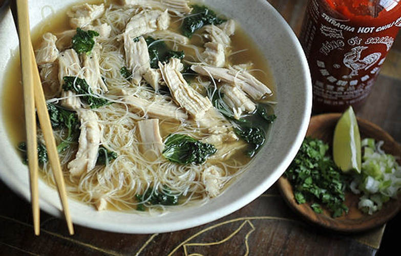 Turkey Pho. The standard turkey breast gets spiced up with sriracha and Asian flavors. You'll soon find yourself buying extra turkey just to produce leftovers for this noodle bowl.