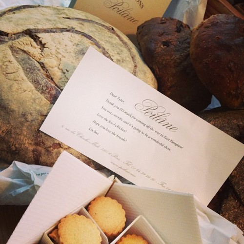 So this is what perfection looks like: Ina Garten ships her pal Tyler Florence some bread—from Paris.