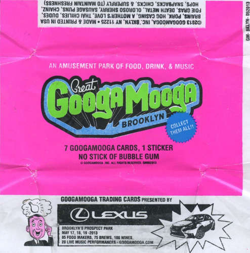 Click through the gallery to see some of the Googa Mooga chef cards and stickers