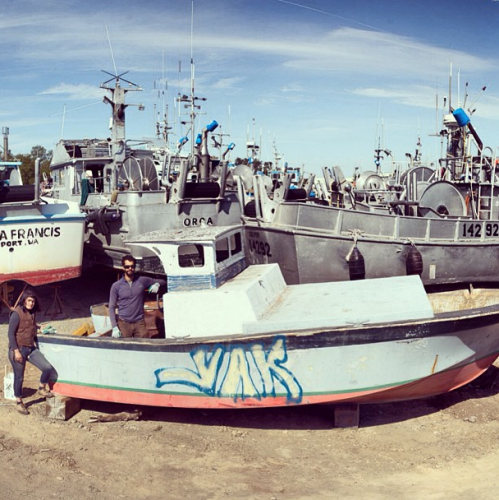 """""""This is the 23 foot f/v Passion Pit. She hasn't been at sea over a decade, and rather has served as a love nest for cannery workers in the junkyard. This week we will resurrect her into our sleeping and supply barge. You will see a dramatic difference in a few days."""""""