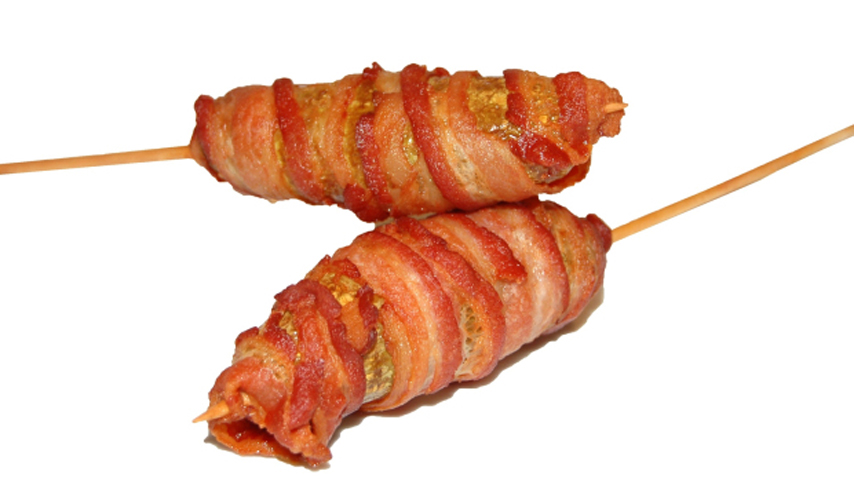 Donut Wrapped in Bacon Bacon-wrapped Pickle Yum