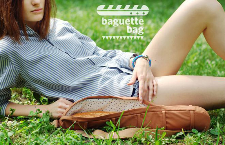 "Ukrainian fashion designer Victoria Panyukova has created the best thing in bread-friendly transportation since Wonder Bread Packaging. CYAN's Baguette Bag is guaranteed to protect your ""fluffy loaf while keeping your hands free."" It's not yet for sale, as the company has only raised 59,00 Euro out of their 4.000,00 Euro goal, but it is available to pre-order at"