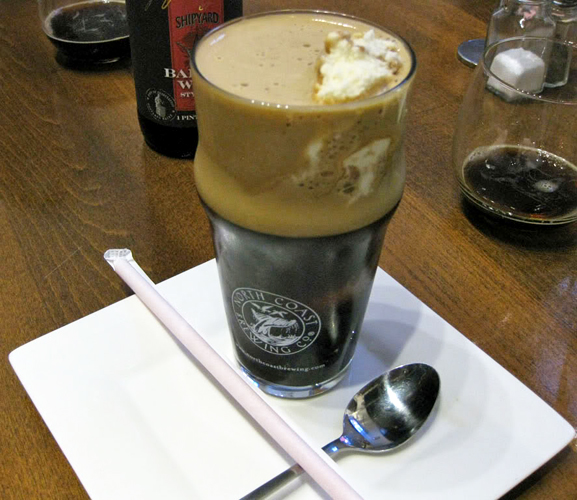 The Old Rasputin beer float at L.A.'s Gold