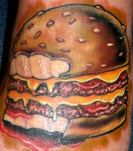 One hell of a sloppy double cheese burger. (Photo: Jason Ackerman)