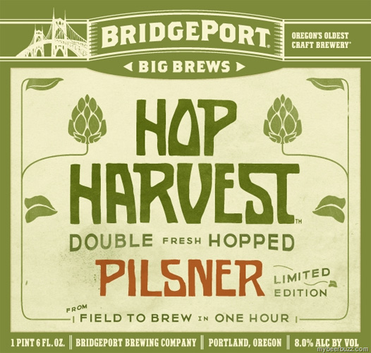 Simple and rustic is the way to go when you're selling a wet-hopped beer.