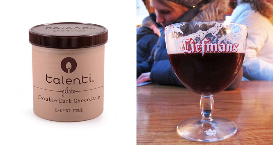 Talenti Dar Chocolate gelato should absolutely be paired with Brouwerij Liefmans' Kriek