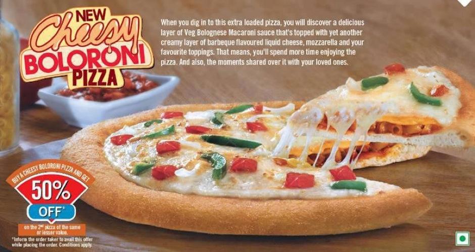 dominos-india-cheesy-boloroni-pizza Brand Eating