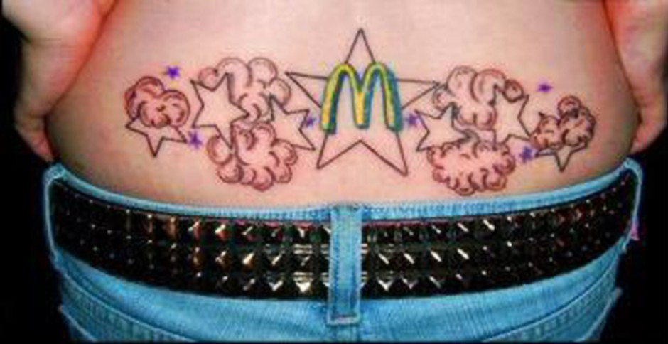 This has to be the sexiest McDonald's-inspired tattoo ever, right!? (Photo: foodnetworkhumor)