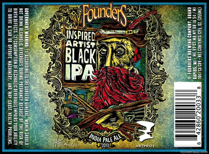 "Founders is the corporate sponsor of the Artprize, so they made this awesome ""Inspired Artists Black IPA"" for this year's festival."