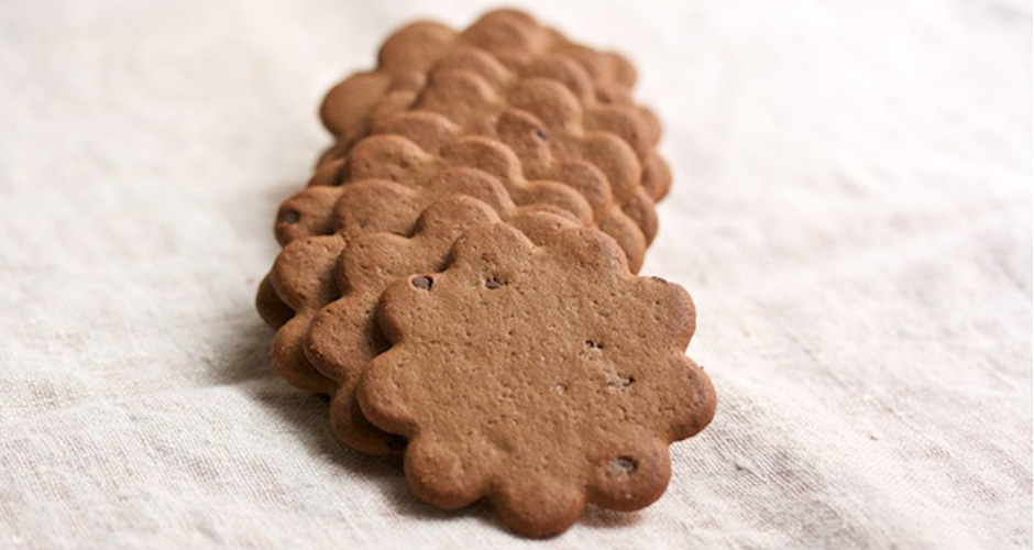 7. Unwrap your chocolate wafers. You'll need about 64 of them.