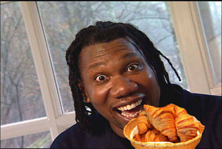 "KRS-One, ""Rappaz R. N. Dainja""  ""Tasty like a soufflé, French croissant on Tuesday / Rappers be boo-tay."" Listen"