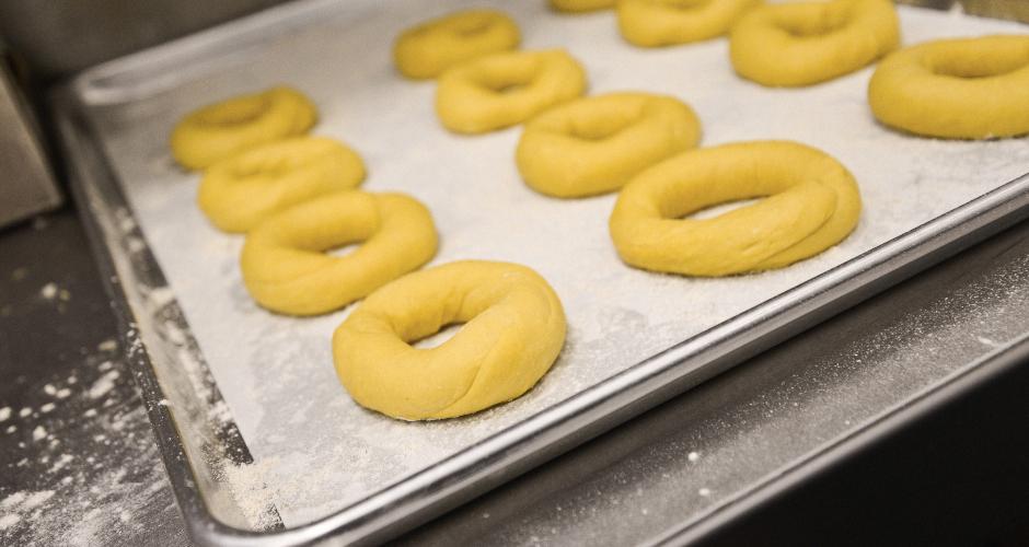 Shaped plain bagels. (Photo: Liz Barclay)