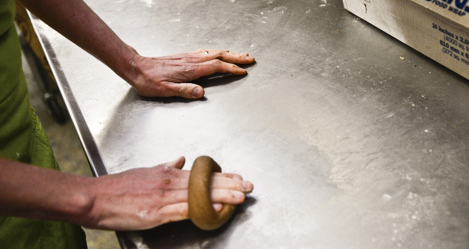 Hand-rolling bagels is quickly becoming a lost art form. (Photo: Liz Barclay)