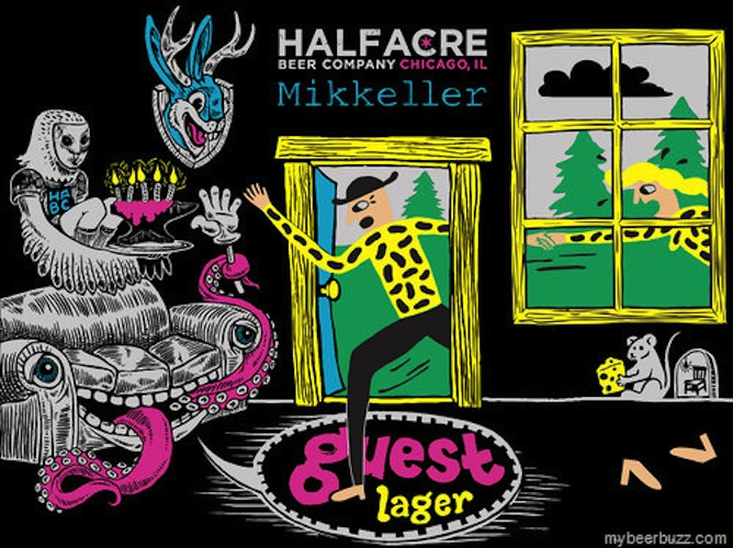 Mikkeller or Half Acre make this roundup practically every week, so it's no surprise that their latest collabo is an artistic smash.