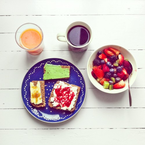 Some of her breakfasts aren't arty at all.