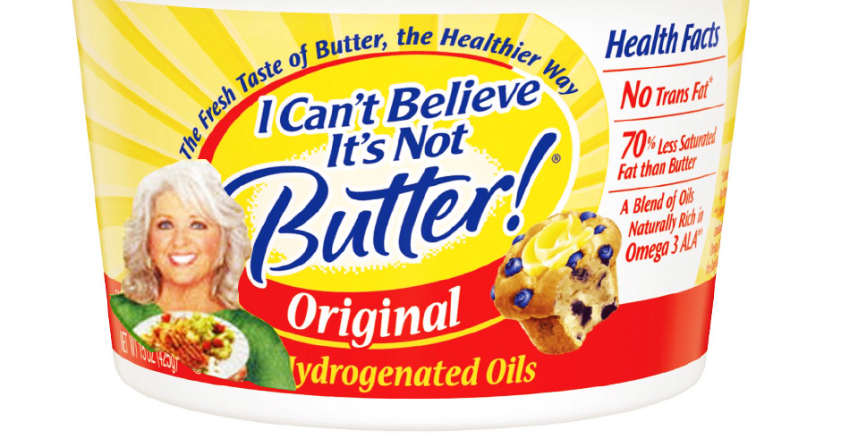 Paula could have distanced herself from her #getfattothis rep with a butter alternative (photo: waycookiecrumbles.blogspot.com)