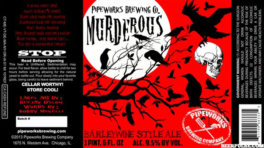 While the artwork isn't amazing, the mood is great—especially for a big, burly barleywine.