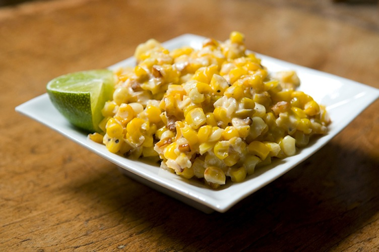Roasted Corn with Lime, Parmesan, and Chili. This is a riff on elote, a Mexican version of corn on the cob typically involving lime, chili, mayo, cheese and a grill, and will quickly become a new favorite.